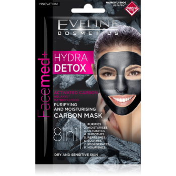Hydra Detox Purifying & Moisturising Carbon Mask 8in1